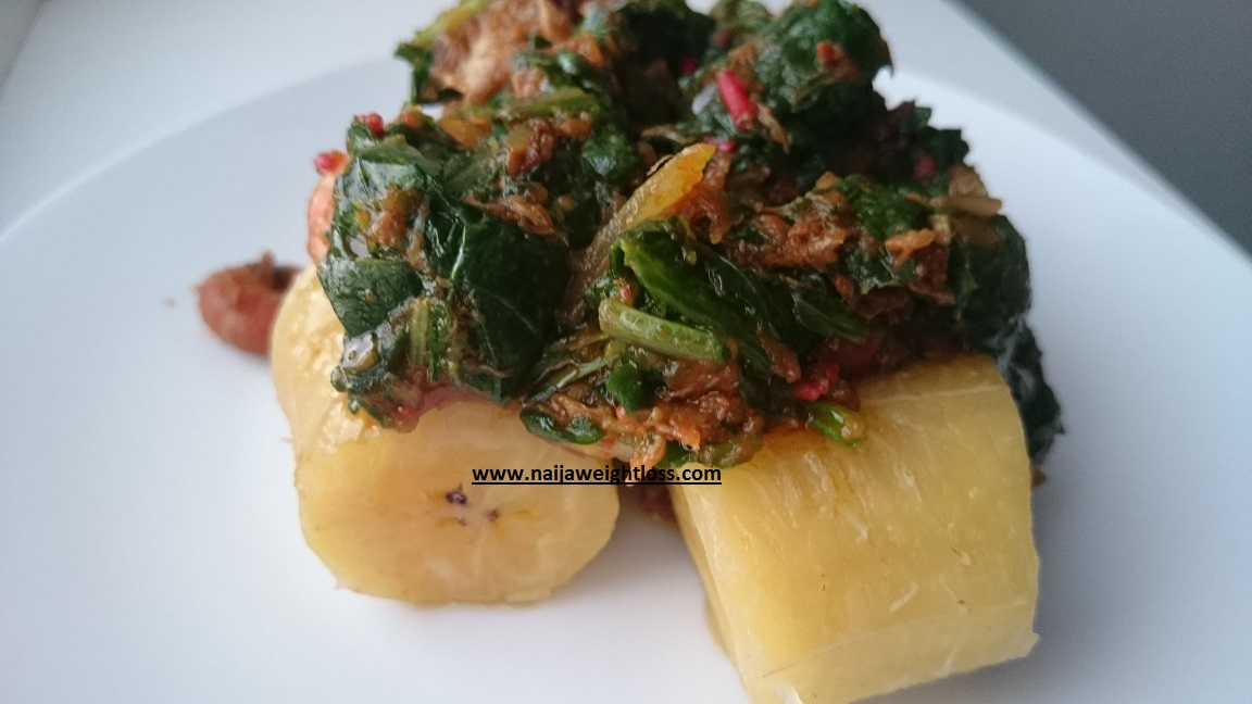 Plantain With Vegetable Stew